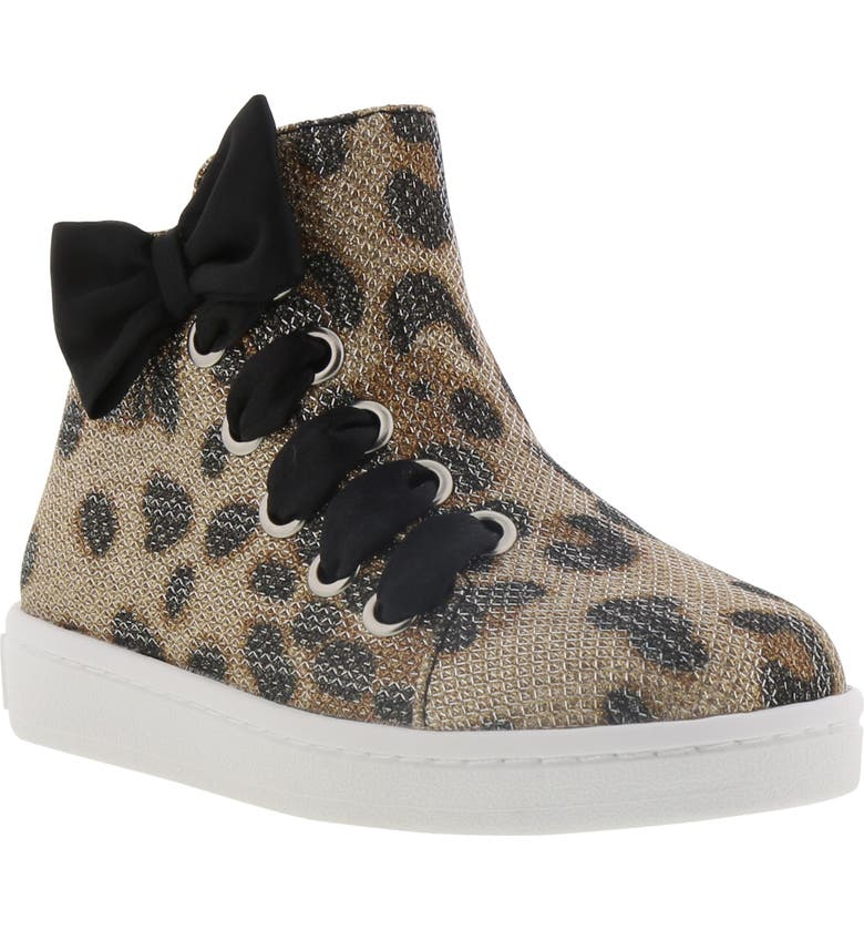 REACTION KENNETH COLE Cosmic Bow Leopard Print High Top Sneaker, Main, color, LEOPARD