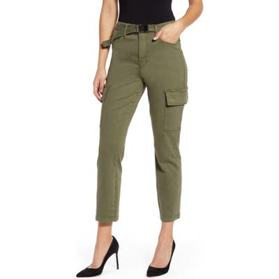 Plus Size Good American Good Legs Ankle Cargo Pants, Green