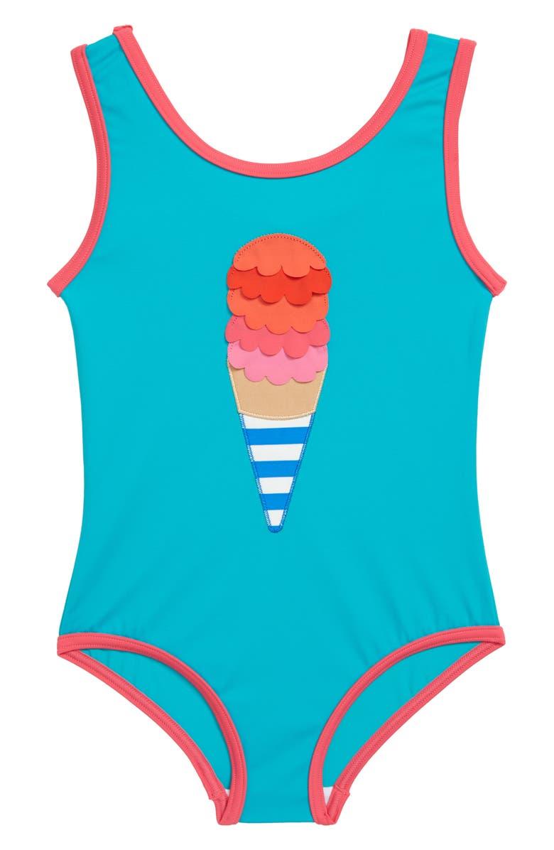 MINI BODEN Fun Detail One-Piece Swimsuit, Main, color, 334