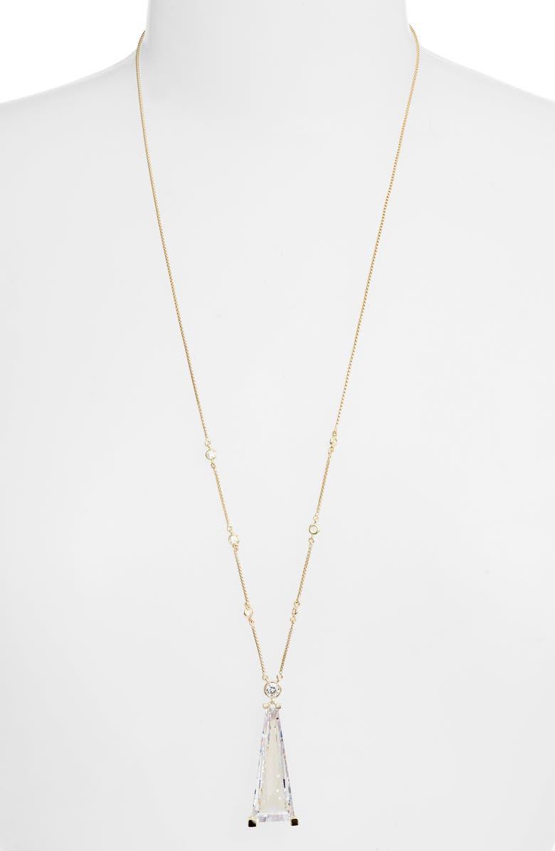 KENDRA SCOTT Everdeen Pendant Necklace, Main, color, GOLD LUSTRE/ GLASS CZ