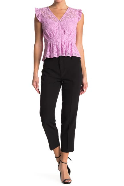 Image of Laundry By Shelli Segal Cropped Straight Leg Crepe Pants