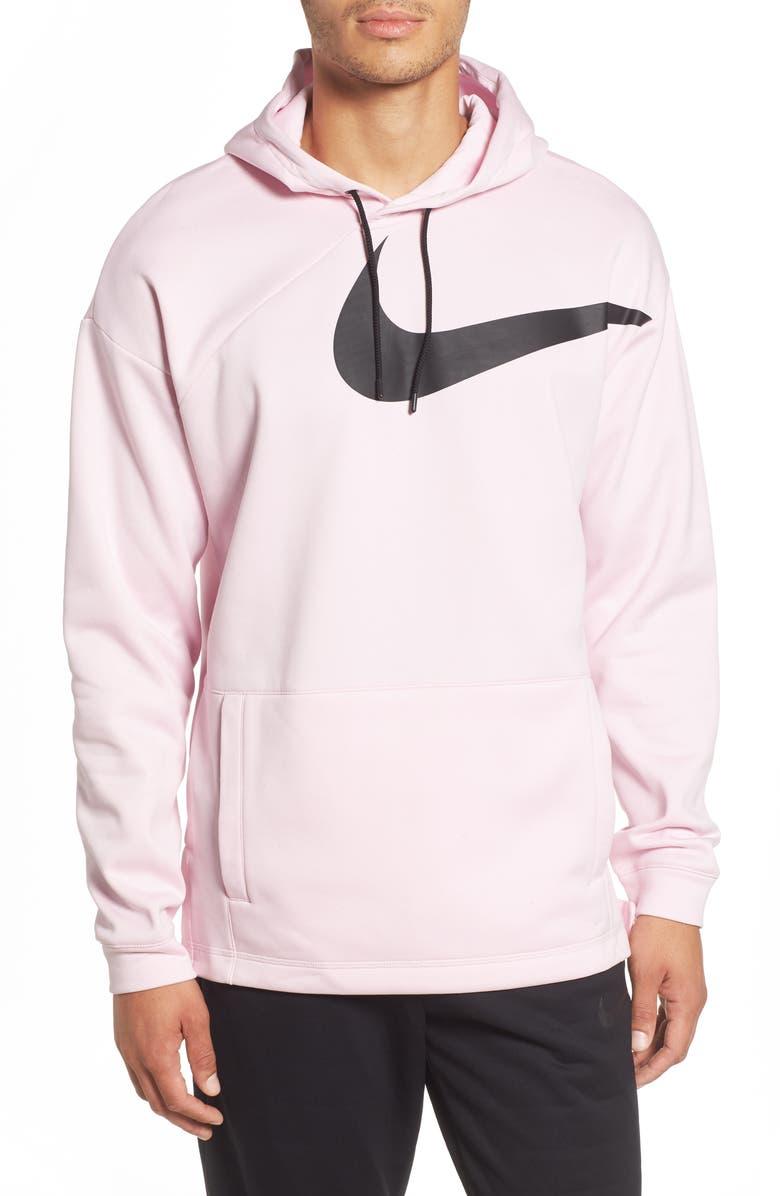 nike swoosh hoodie pink foam
