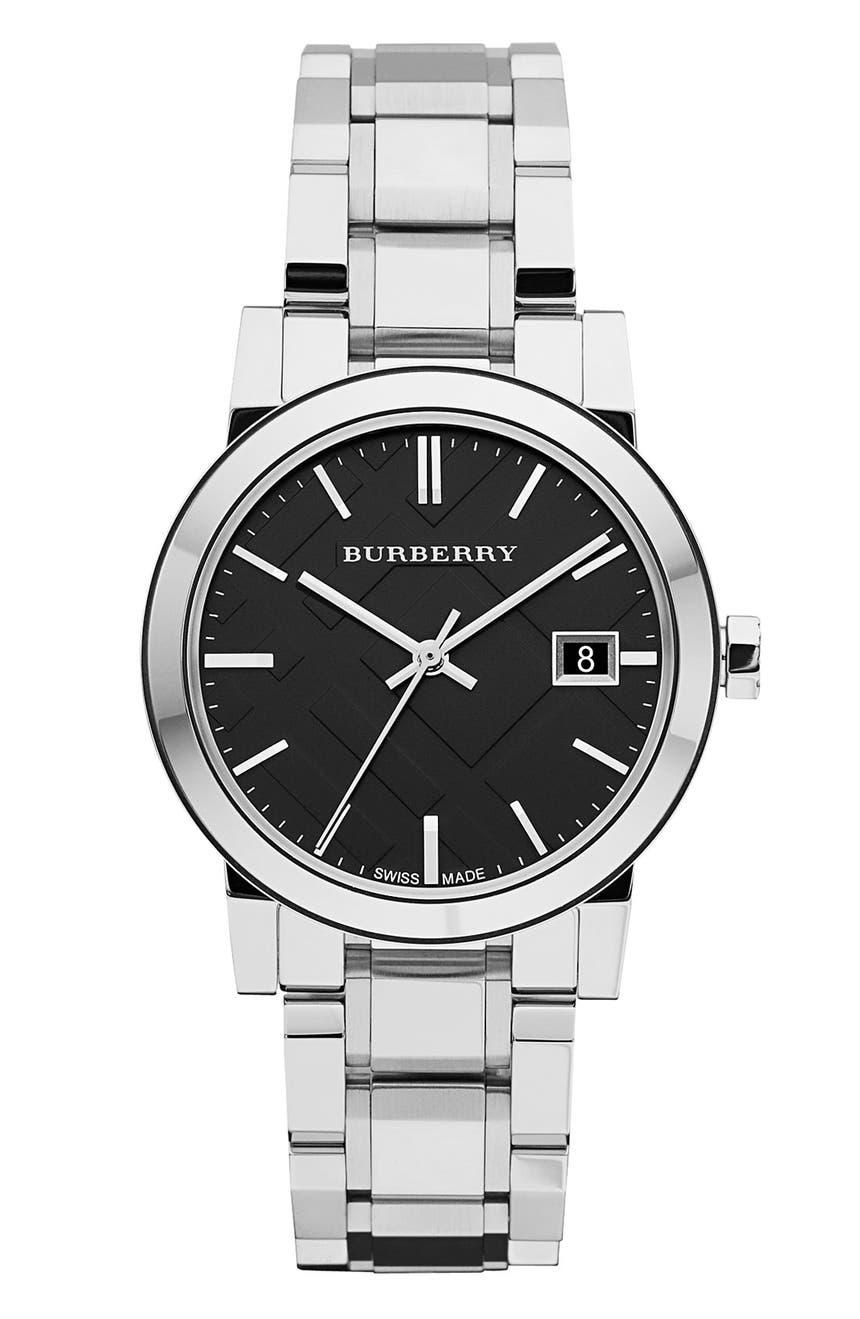 Medium Check Stamped Bracelet Watch 34mm