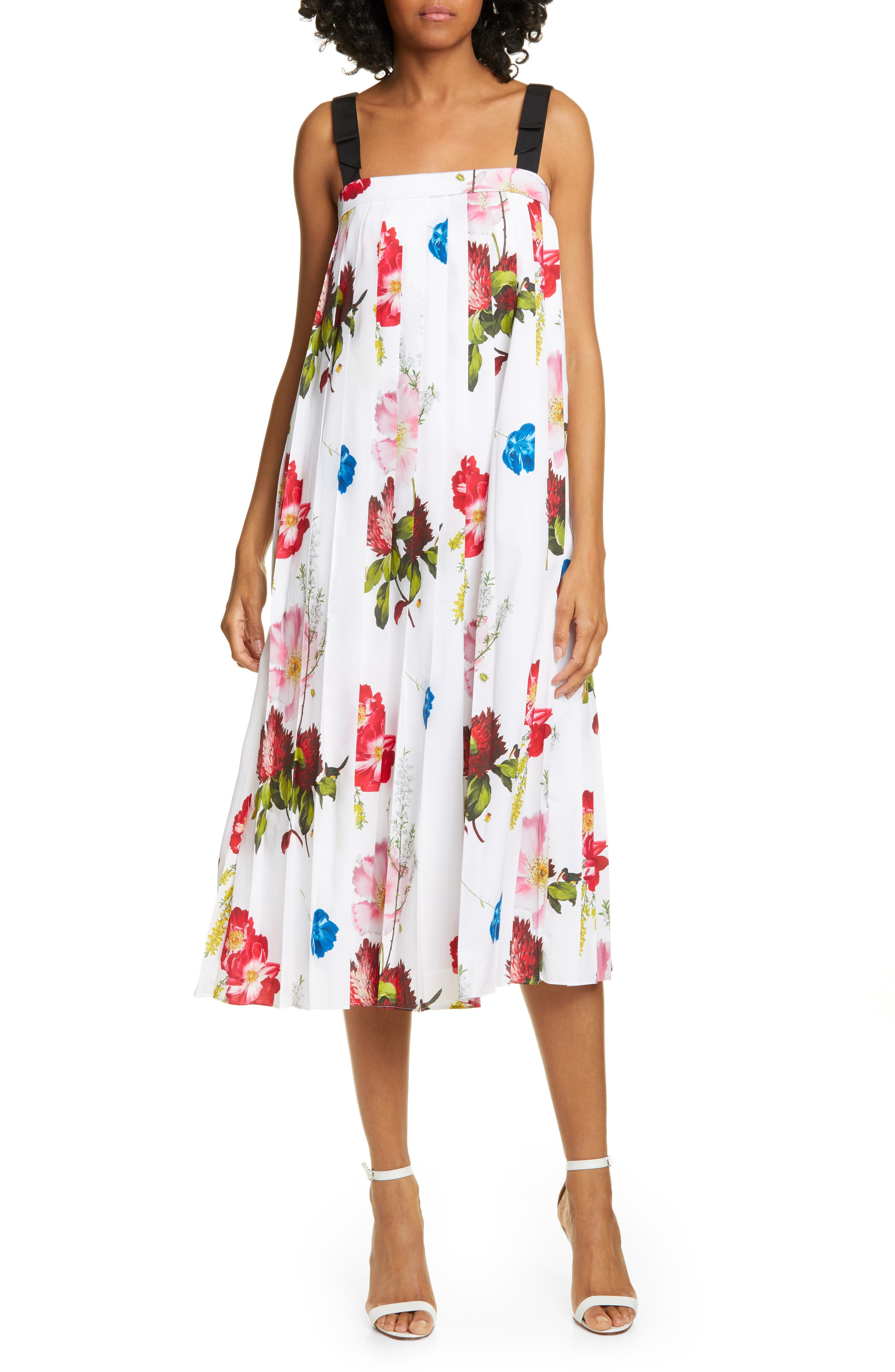 Ted Baker London Melbii Berry Sundae Tie Strap Sundress, White
