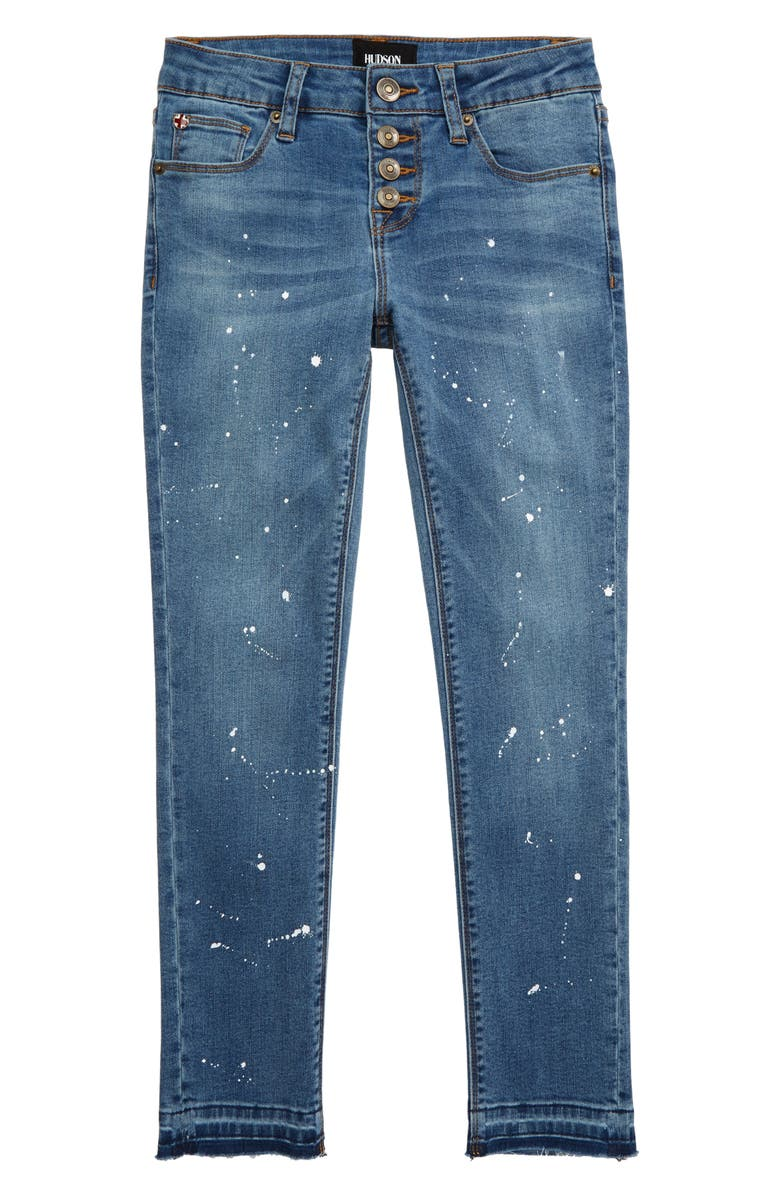 HUDSON JEANS Carmen Release Hem Crop Skinny Jeans, Main, color, 400