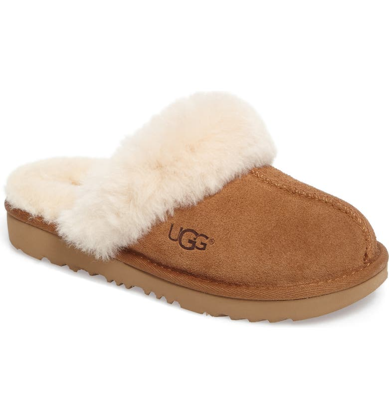 UGG<SUP>®</SUP> Cozy II Scuff Slipper, Main, color, CHESTNUT