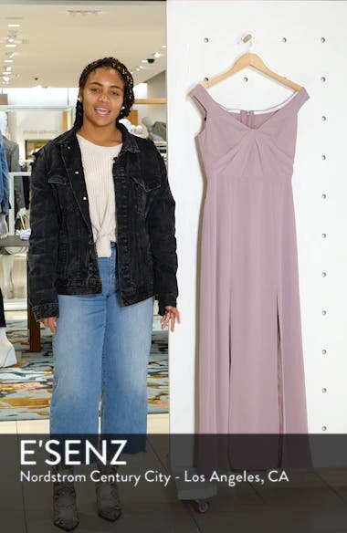 Off the Shoulder Chiffon Gown, sales video thumbnail