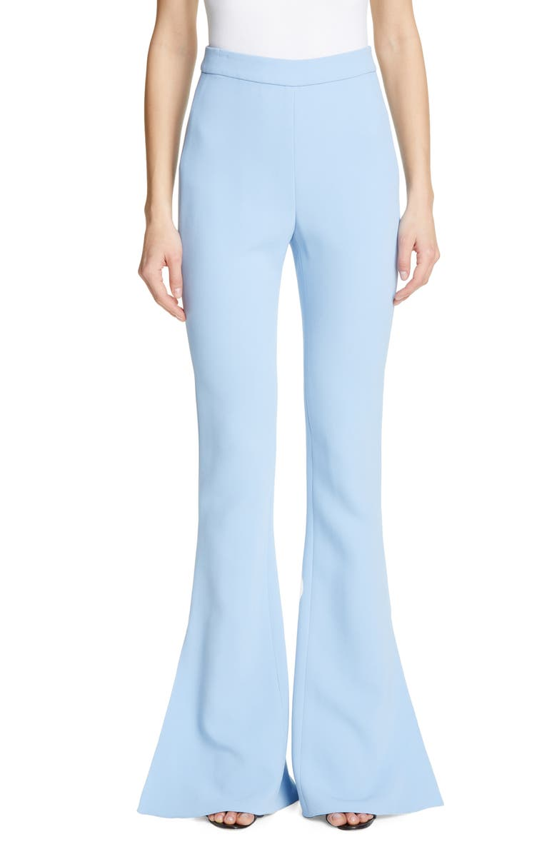 CUSHNIE High Waist Split Flare Pants, Main, color, POWDER BLUE