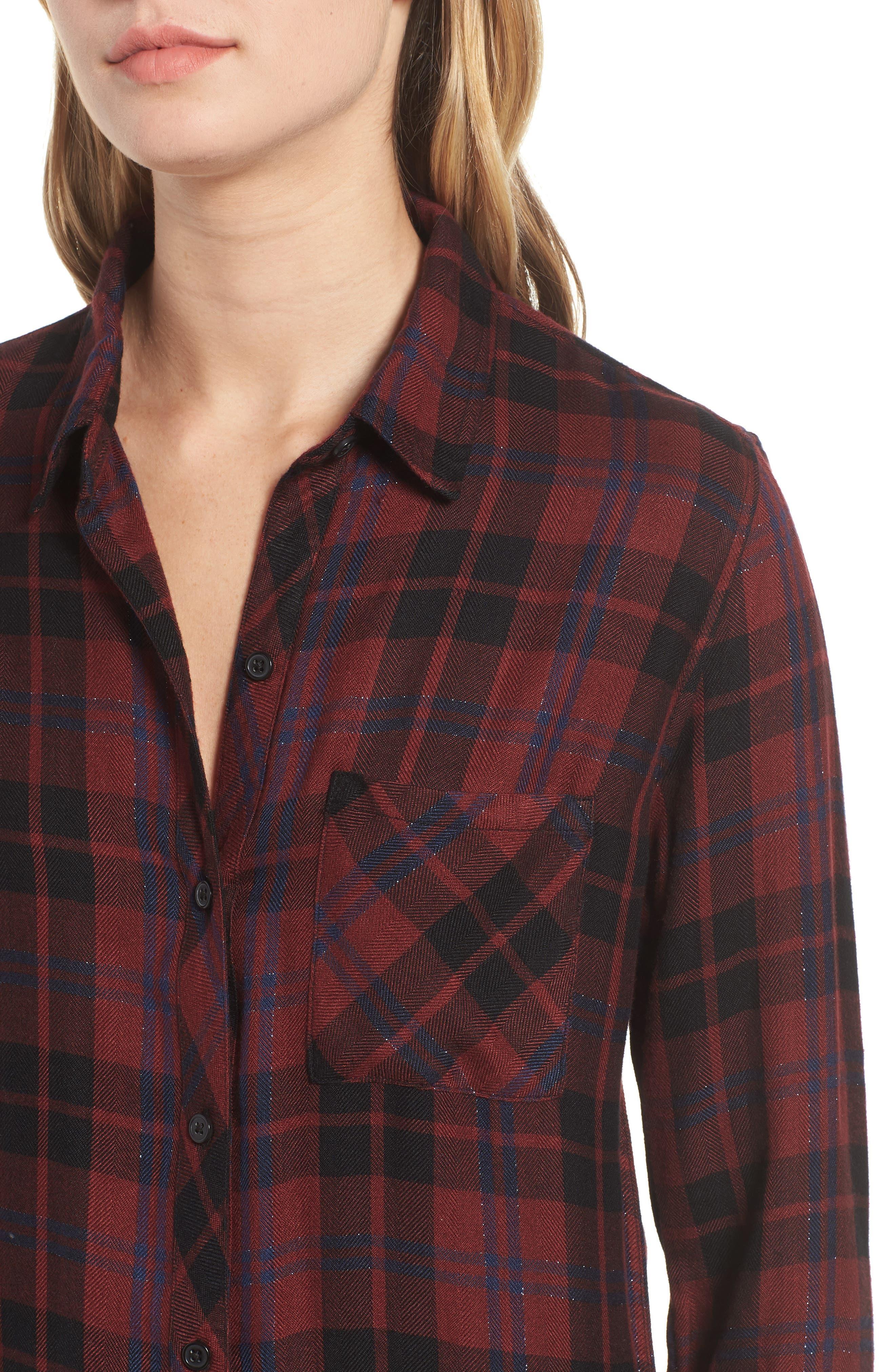 ,                             Hunter Plaid Shirt,                             Alternate thumbnail 437, color,                             932
