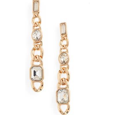 Bp. Crystal & Chain Linear Earrings