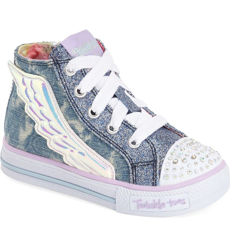 SKECHERS 'Twinkle Toes Shuffles Flutter Up' Light Up High