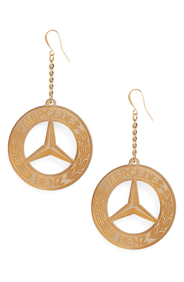 MELODY EHSANI Mercedes Benz Earrings, Main, color, 710