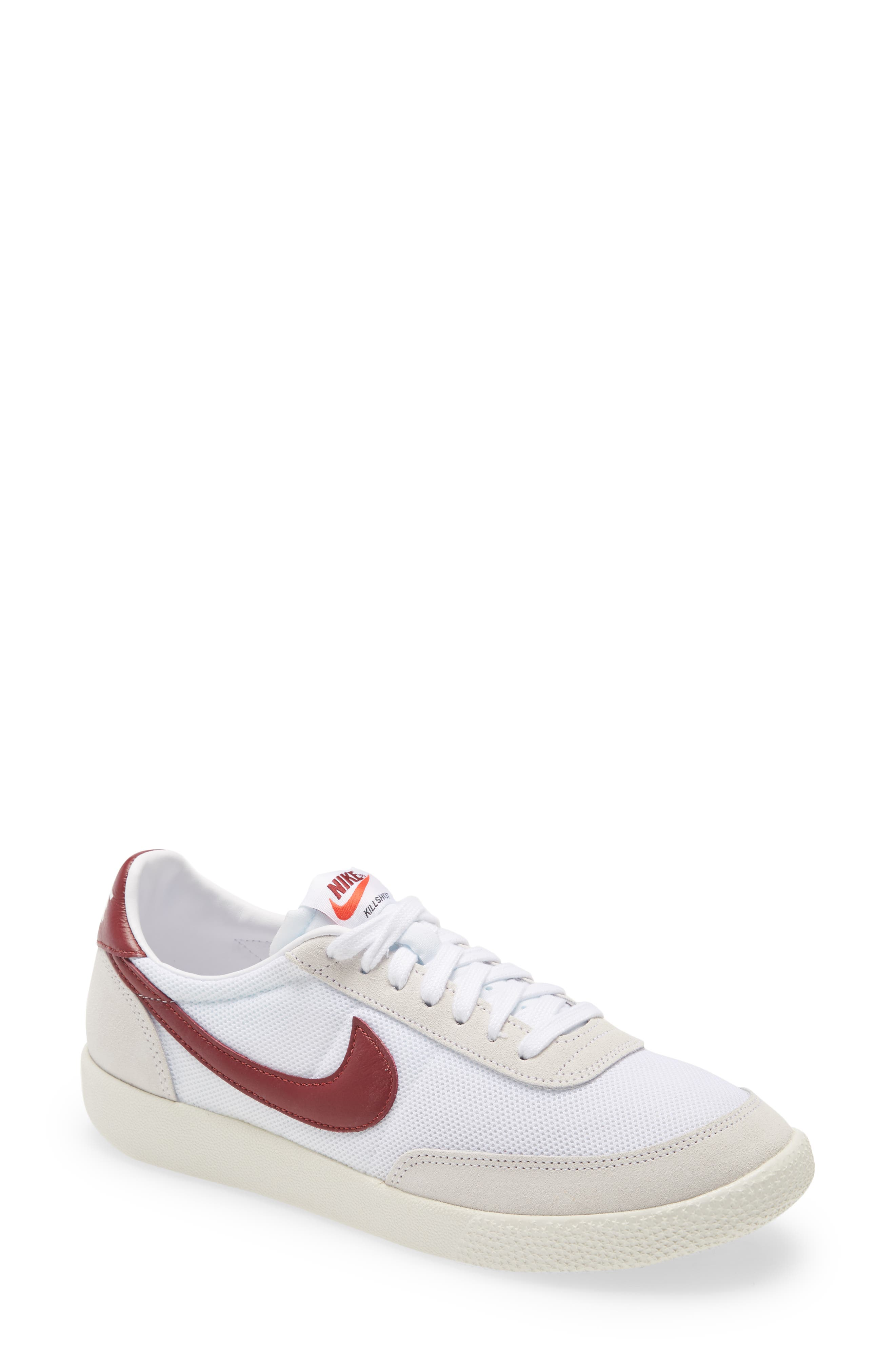 A fan favorite since its 1979 debut as a court shoe for racquetball and squash, this high-point sneaker still sports the low-top profile that\\\'s kept it so agile. Breathable mesh and original colorways pair with a modern star-studded bumper toe to update the shoe for contemporary kicks. Style Name: Nike Killshot Og Sneaker (Men). Style Number: 6064876. Available in stores.