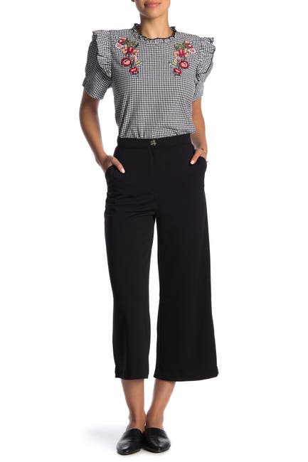 Image of GOOD LUCK GEM High Waist Culotte Pants