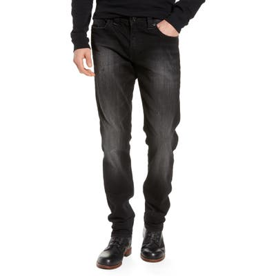 True Religion Brand Jeans Geno Straight Leg Jeans, Black