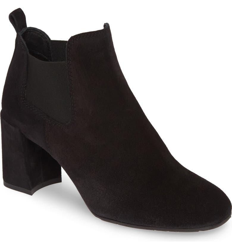 PEDRO GARCIA Nenet Chelsea Boot, Main, color, BLACK VELOUR