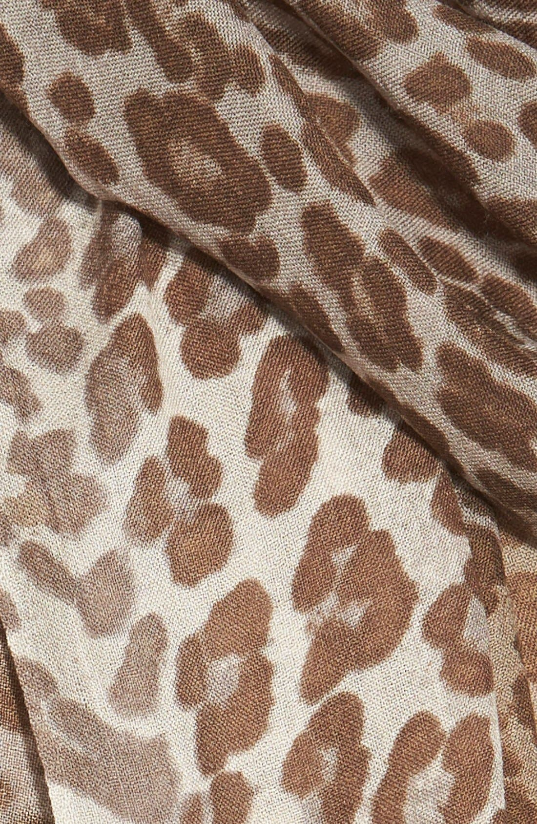 ,                             'Luxe Animal' Challis Scarf,                             Alternate thumbnail 5, color,                             200