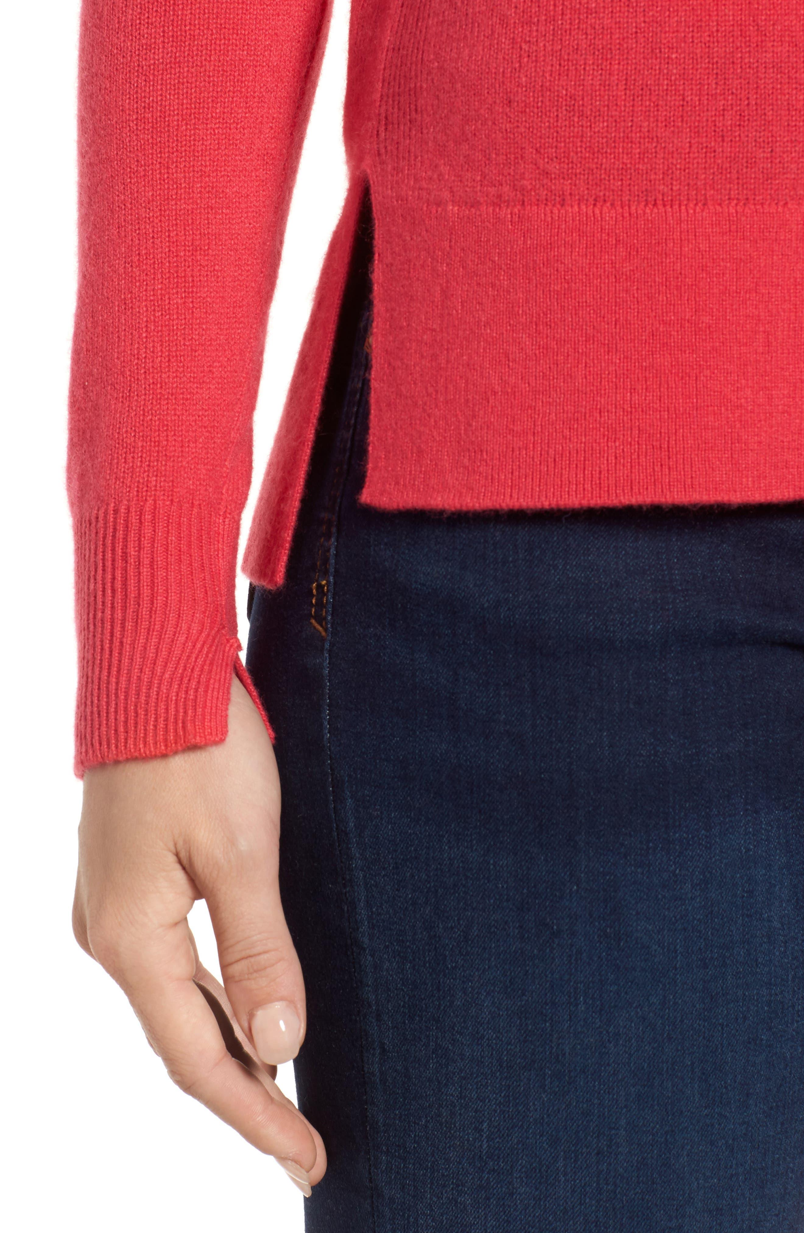 ,                             Crewneck Cashmere Sweater,                             Alternate thumbnail 165, color,                             650