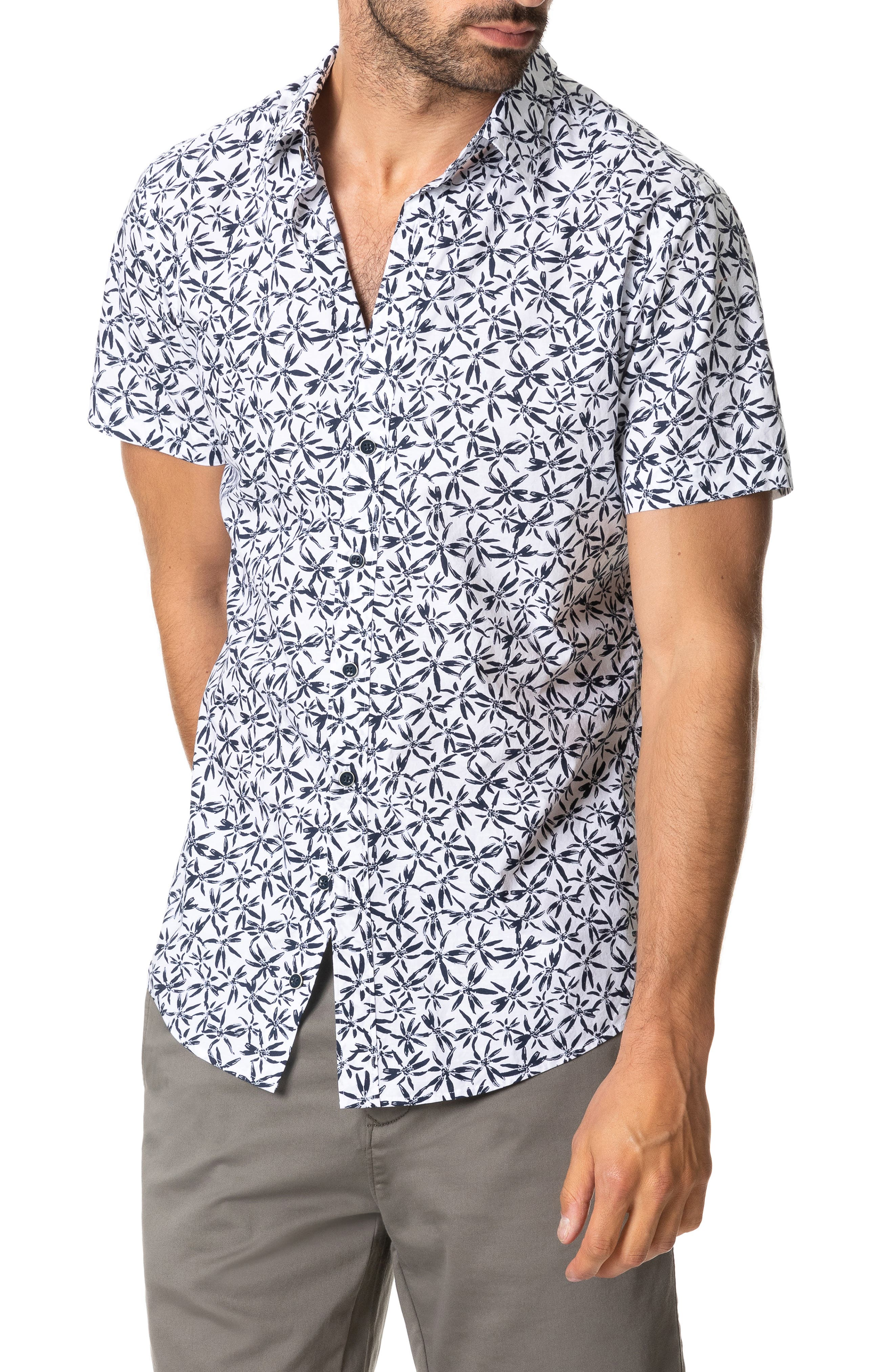 RODD AND GUNN Whitstone Floral Short Sleeve Button-Up Shirt at Nordstrom Rack