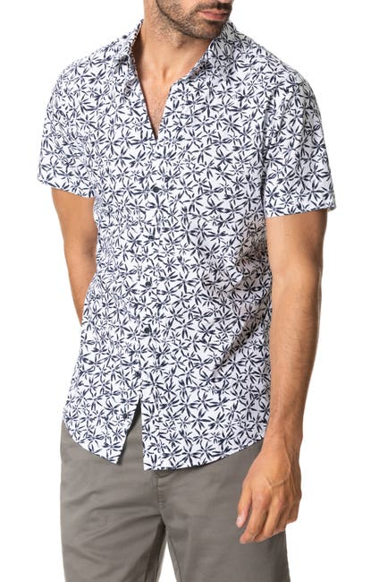 Image of RODD AND GUNN Whitstone Floral Short Sleeve Button-Up Shirt