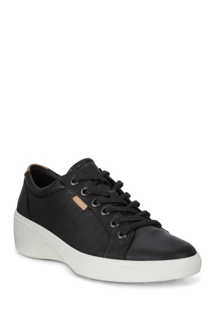 Image of ECCO Soft 7 Wedge Leather Sneaker