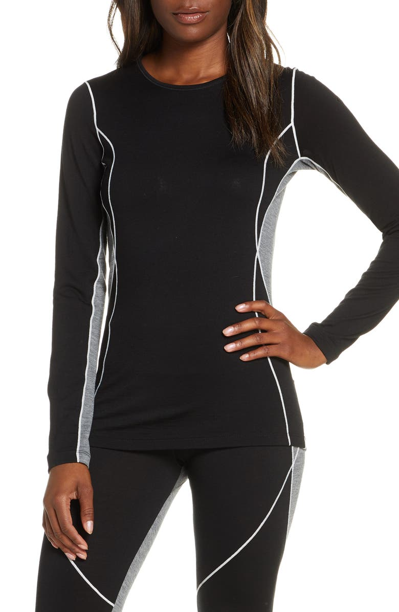 ICEBREAKER 200 Oasis Deluxe Merino Wool Base Layer, Main, color, 005