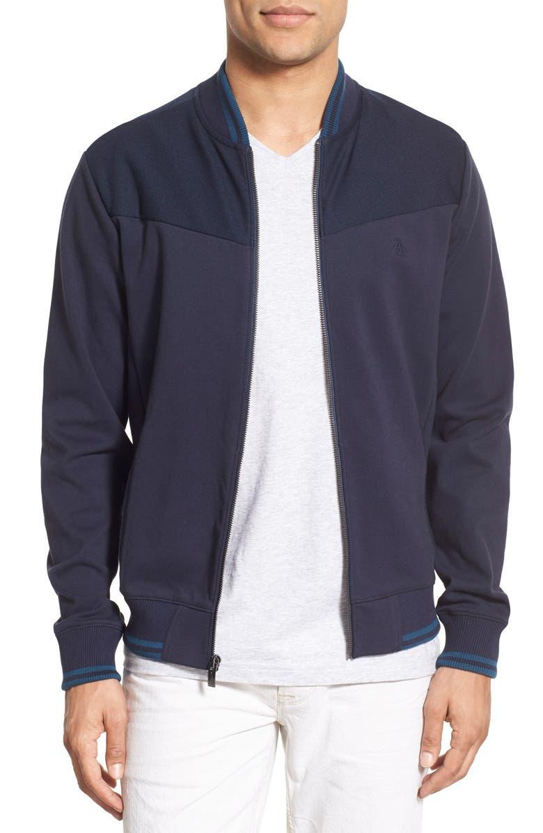ORIGINAL PENGUIN Ponte Knit Track Jacket, Main, color, 413