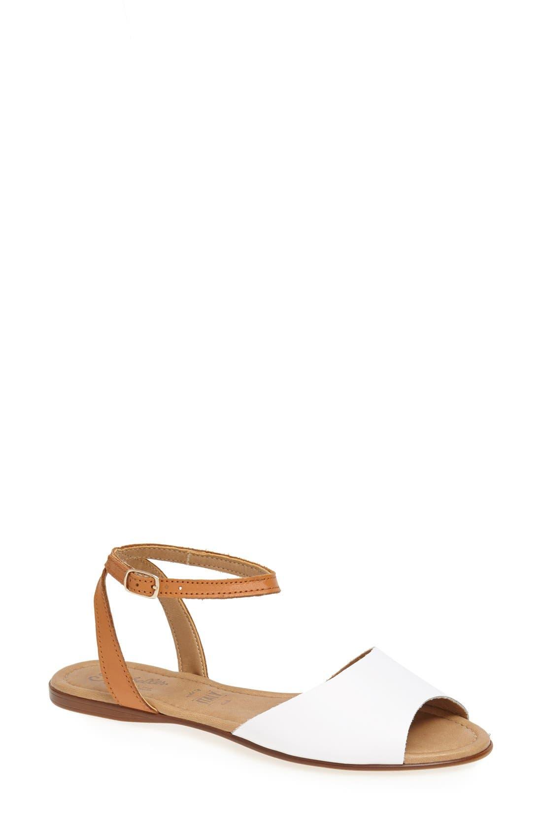 ,                             'Brand New' Ankle Strap Calf Hair Sandal,                             Main thumbnail 9, color,                             110