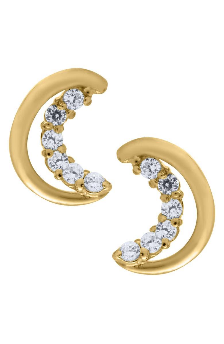MIGNONETTE 14k Gold Half Moon Earrings, Main, color, GOLD