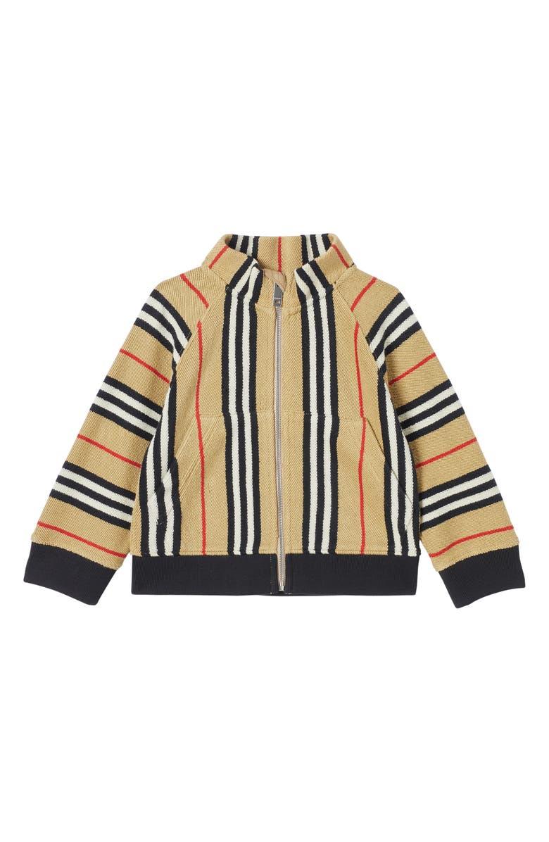 BURBERRY Lance Zip Jacket, Main, color, ARCHIVE BEIGE