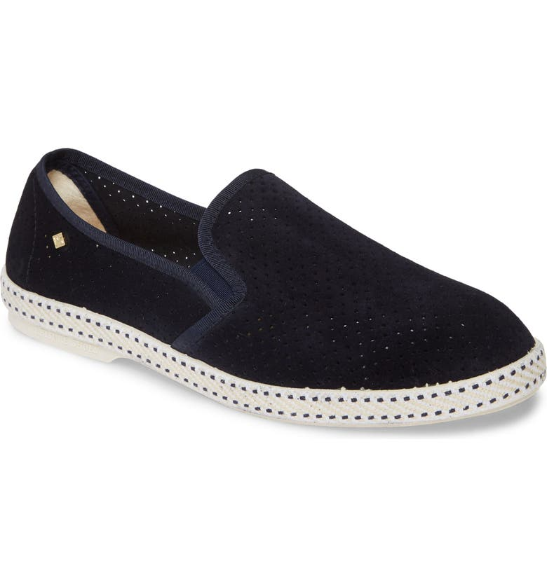 RIVIERAS Sultan des Plages Slip-On Sneaker, Main, color, MARINE BLUE PERFORATED SUEDE