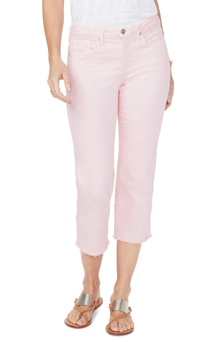 NYDJ Capri Straight Leg Jeans, Main, color, PINK DUSK