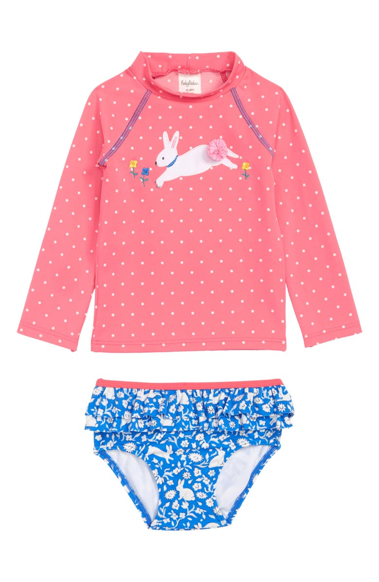 MINI BODEN Two-Piece Rashguard Swimsuit, Main, color, 650