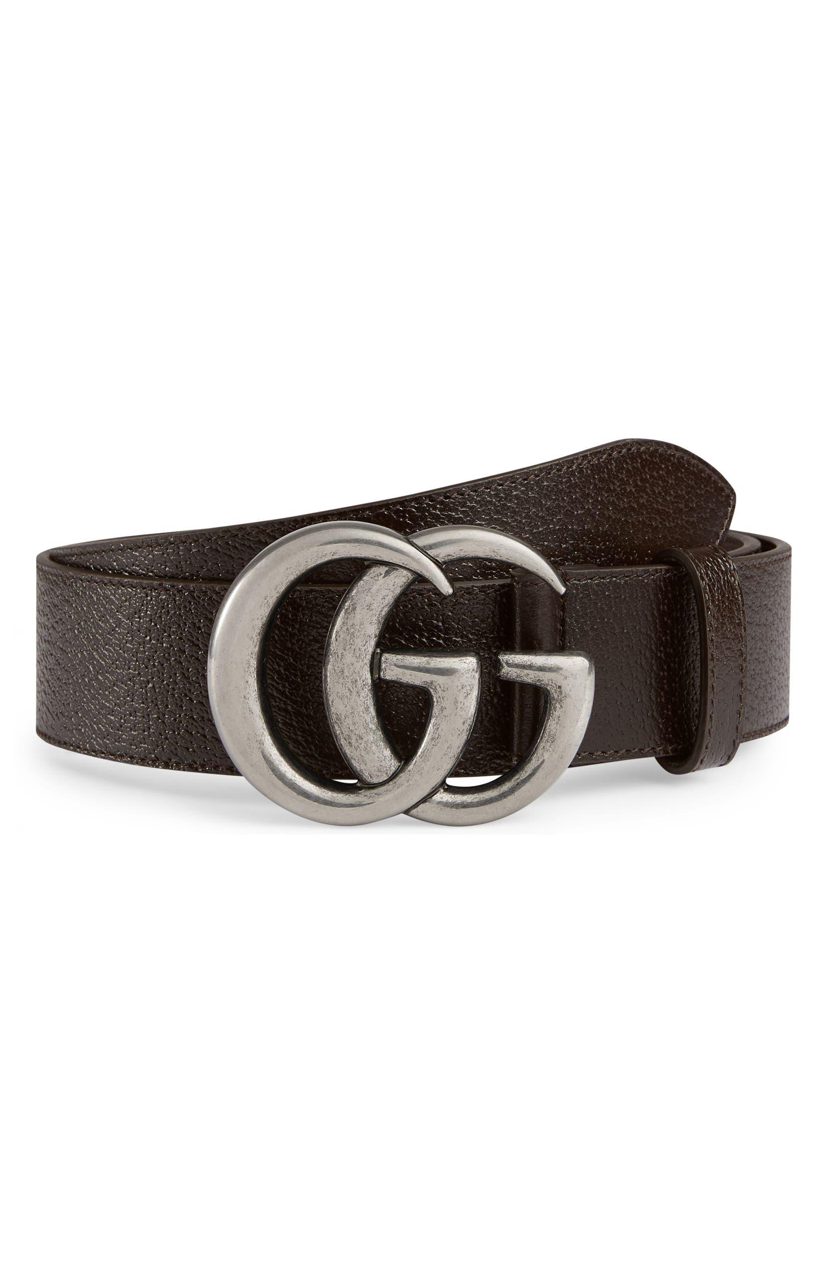 9f80c3bb9b5 Gucci GG Pebbled Leather Belt