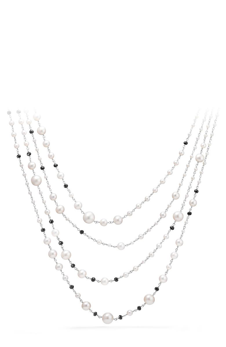 DAVID YURMAN Solari Pearl & Bead Multistrand Necklace, Main, color, PEARL/ BLACK SPINEL