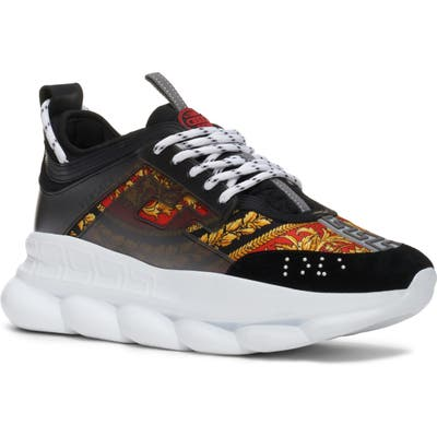 Versace Chain Reaction Sneaker, Black