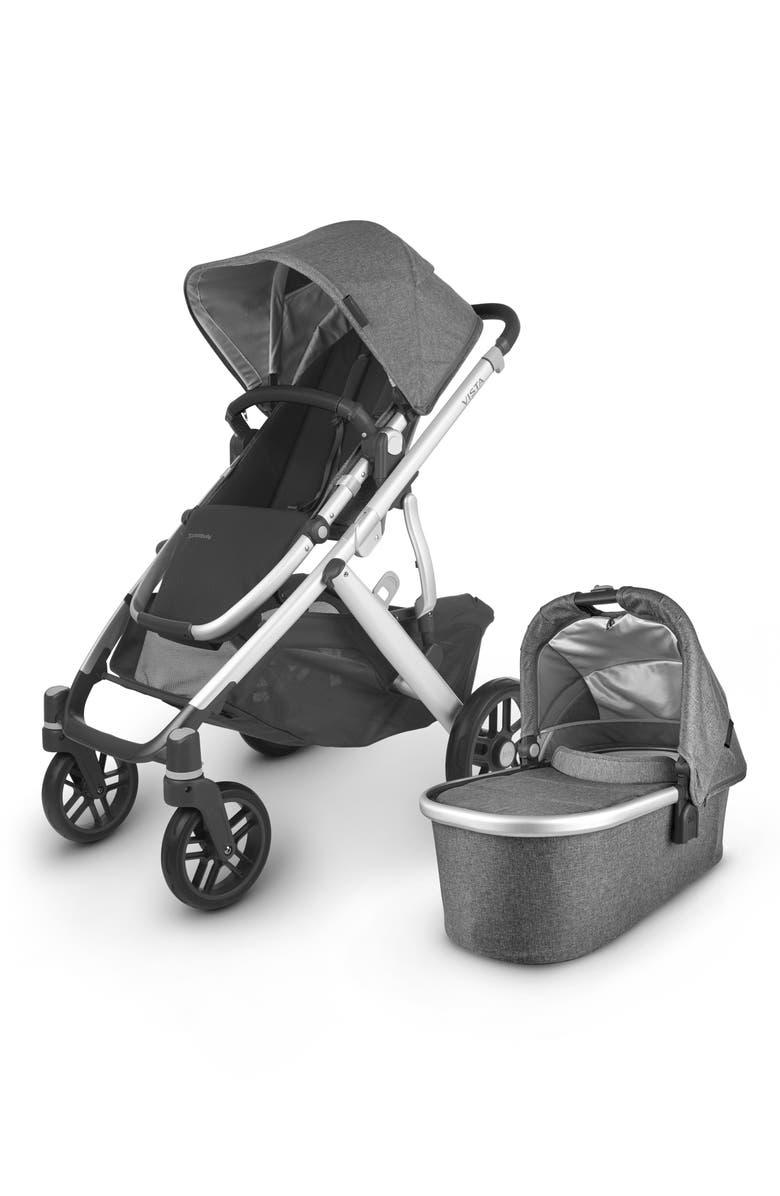 UPPABABY Vista V2 Stroller with Bassinet & Toddler Seat, Main, color, JORDAN CHARCOAL MELANGE
