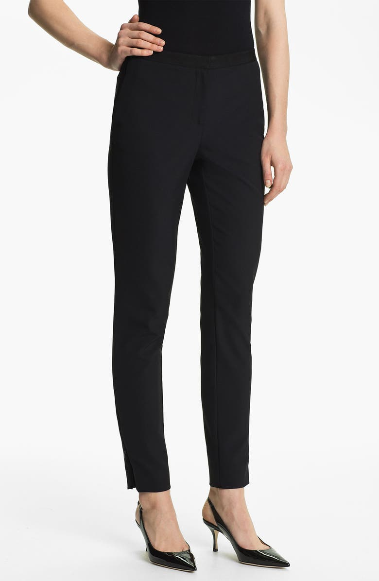 MISS WU Slim Techno Woven Pants, Main, color, 001