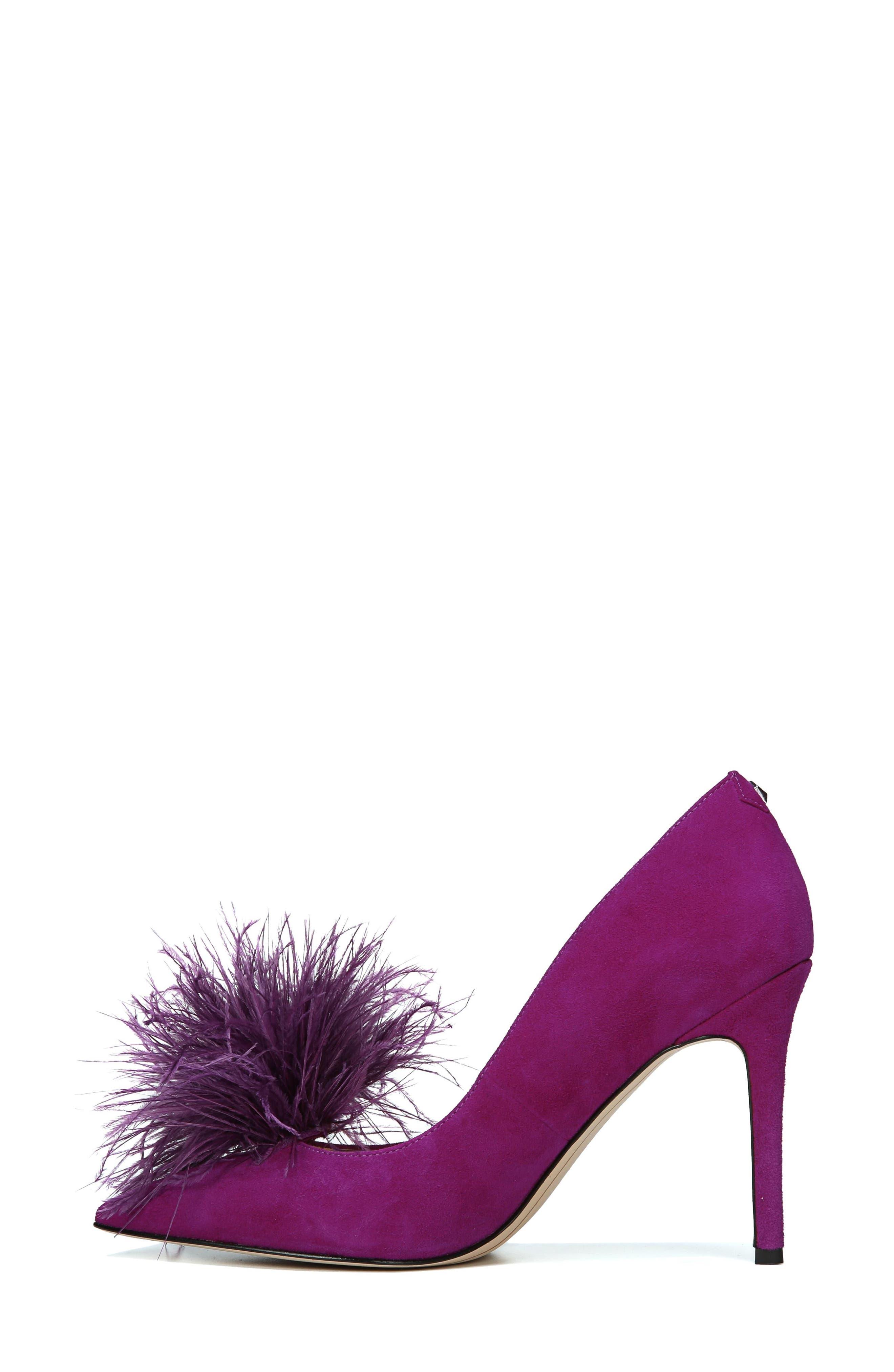 ,                             Haide Feather Genuine Calf Hair Pompom Pump,                             Alternate thumbnail 21, color,                             500