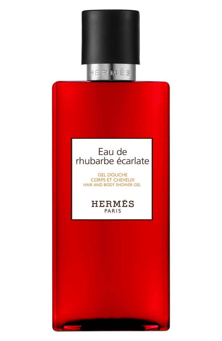 HERMÈS Eau de Rhubarbe Écarlate - Perfumed Bath and Shower Gel, Main, color, 000