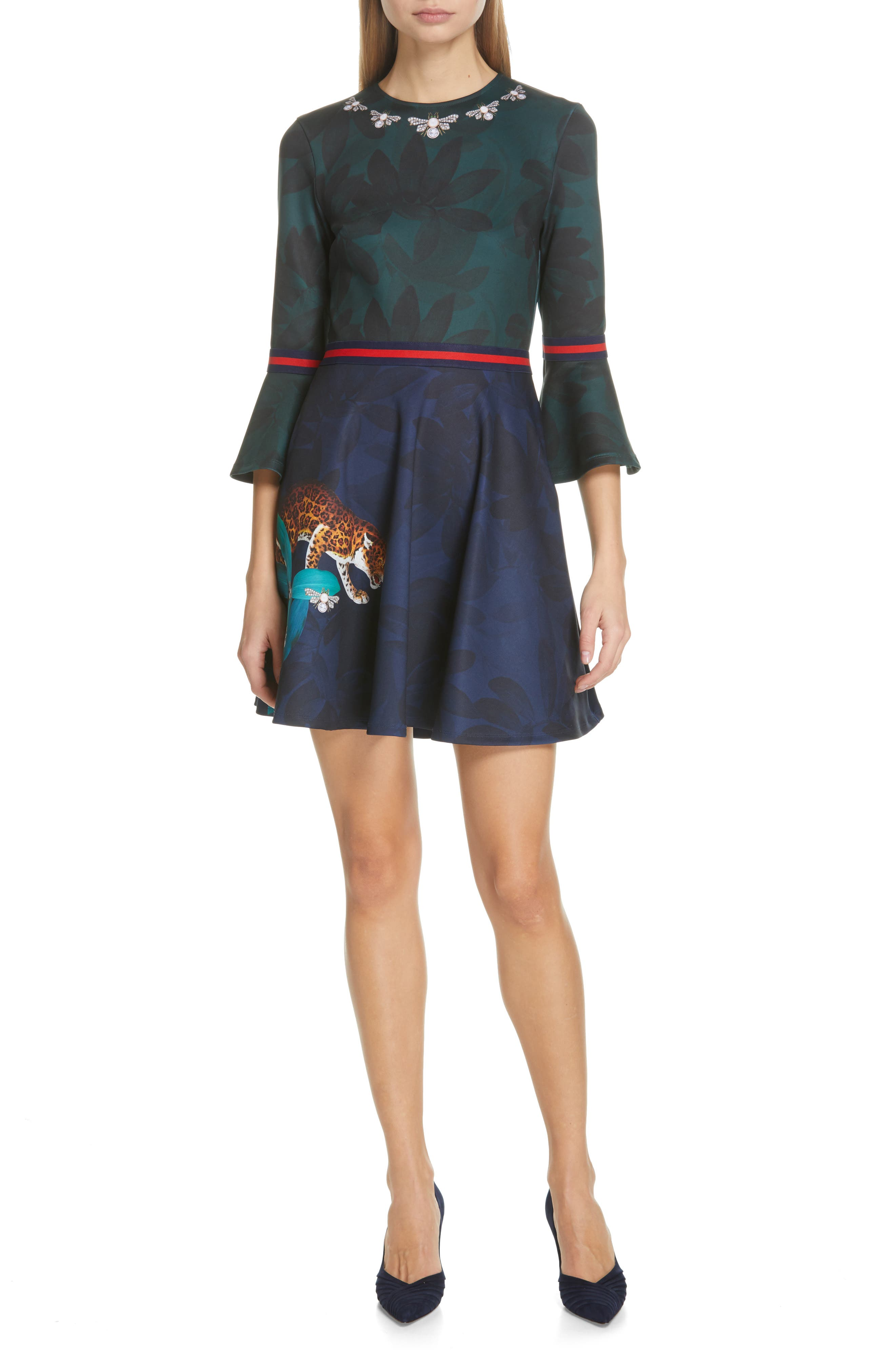 Ted Baker London Emileen Floral Minidress, Blue