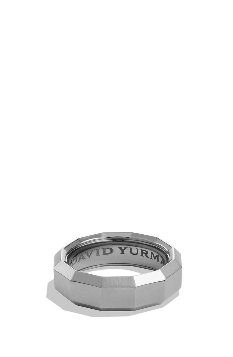 DAVID YURMAN Faceted Titanium Band Ring, Main, color, TITANIUM