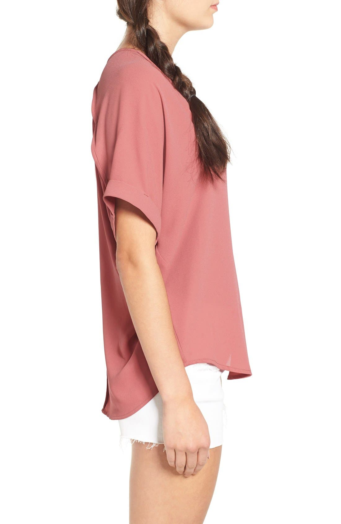,                             Lush Cuff Sleeve Woven Tee,                             Alternate thumbnail 168, color,                             653