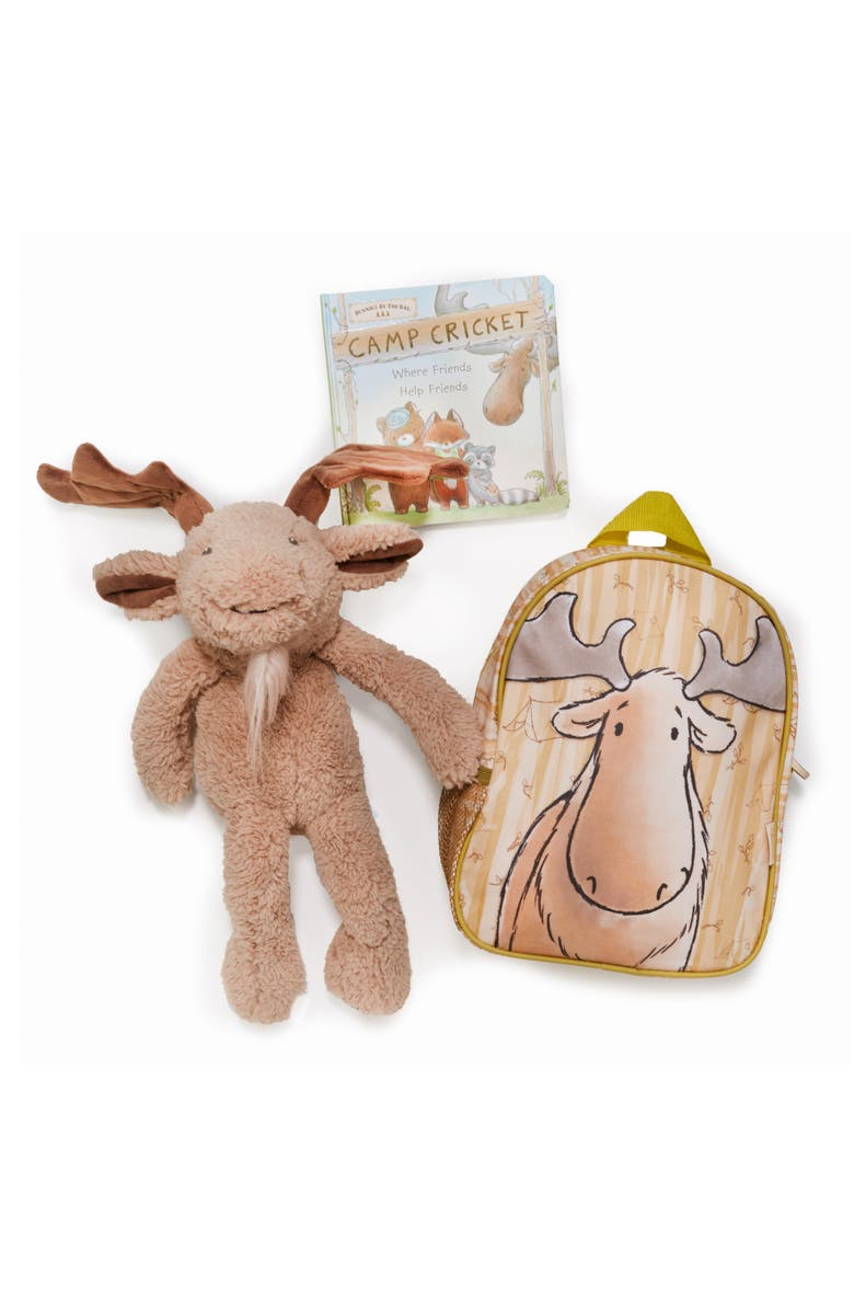 BUNNIES BY THE BAY Bruce On the Go Backpack, Stuffed Animal & Board Book Set, Main, color, 021