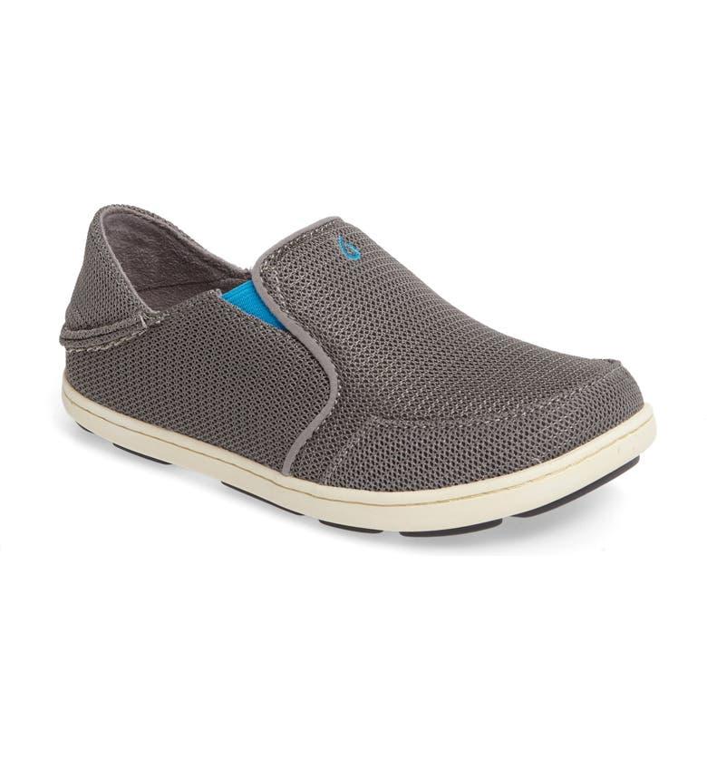 OLUKAI 'Nohea' Mesh Shoe, Main, color, GREY/ SCUBA