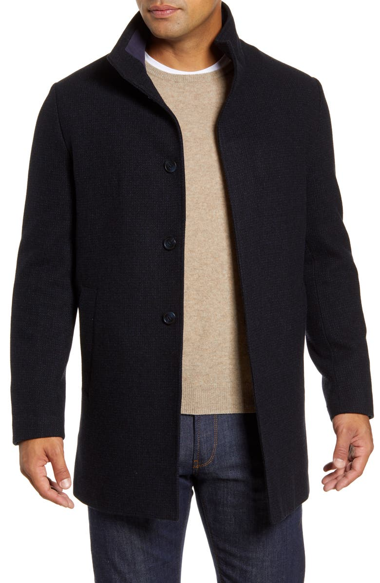 JOHN W. NORDSTROM<SUP>®</SUP> Lewis Wool Blend Car Coat, Main, color, 410