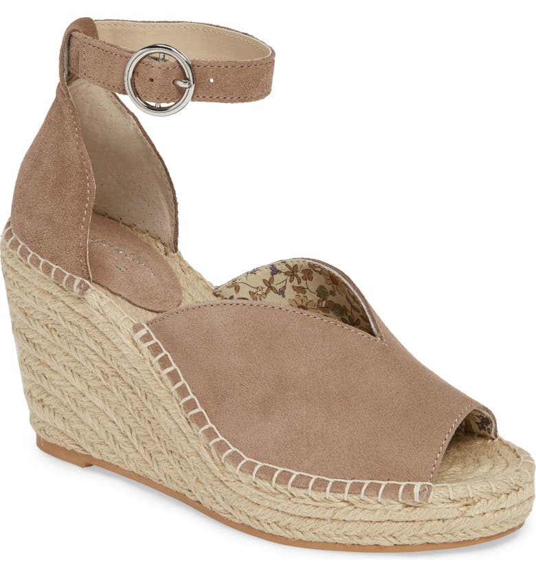 SEYCHELLES Collectibles Espadrille Wedge Sandal, Main, color, TAUPE SUEDE