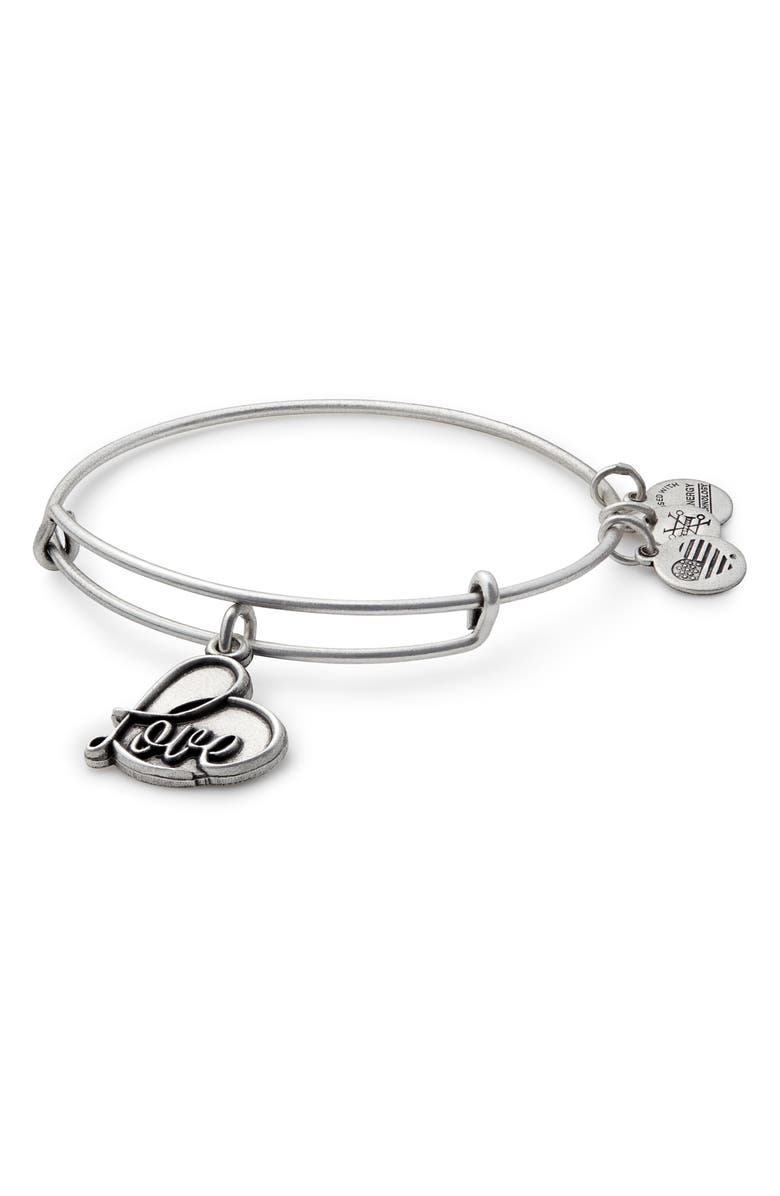 ALEX AND ANI Love Expandable Charm Bracelet, Main, color, 040