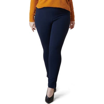 Plus Size Maree Pour Toi Skinny Compression Knit Pants, Blue