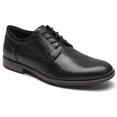 Rockport Dustyn Waterproof Plain Toe Derby, Black